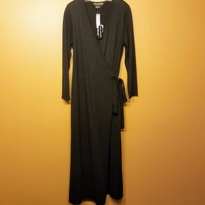 Nina Leonard Dress | Maxi Sweater Wrap Dress-Large
